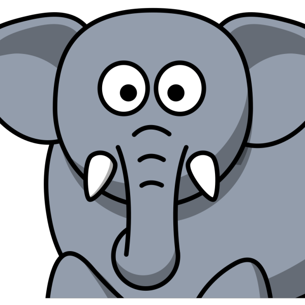 Elephant Front View PNG Clip art