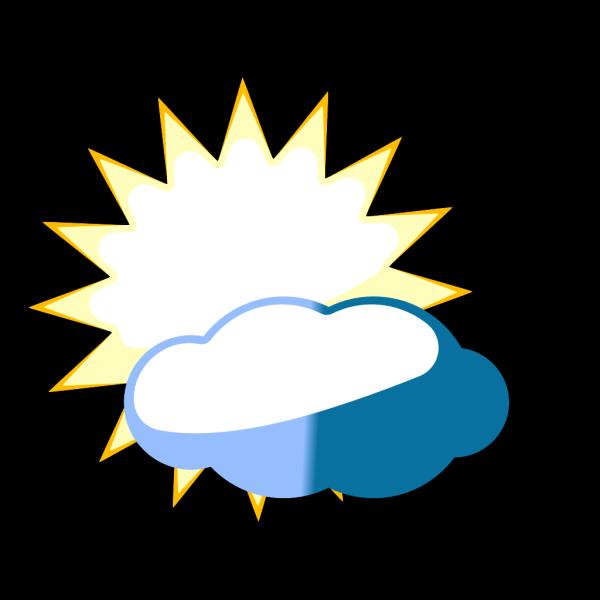 Cloudy Sun PNG Clip art