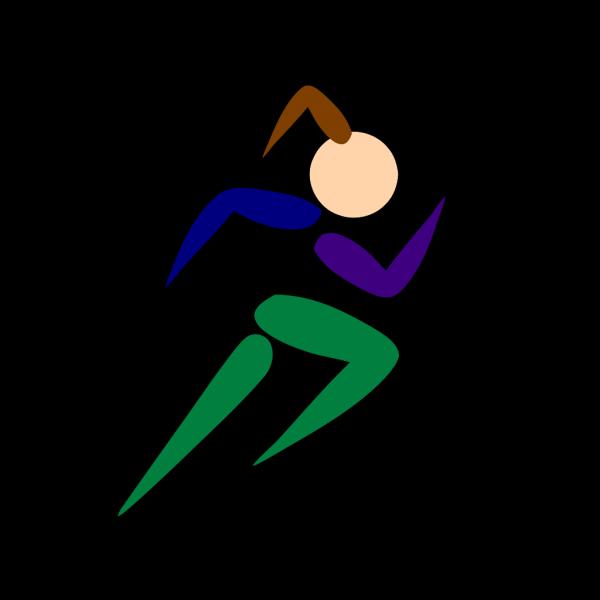 Girl Running Pink PNG Clip art