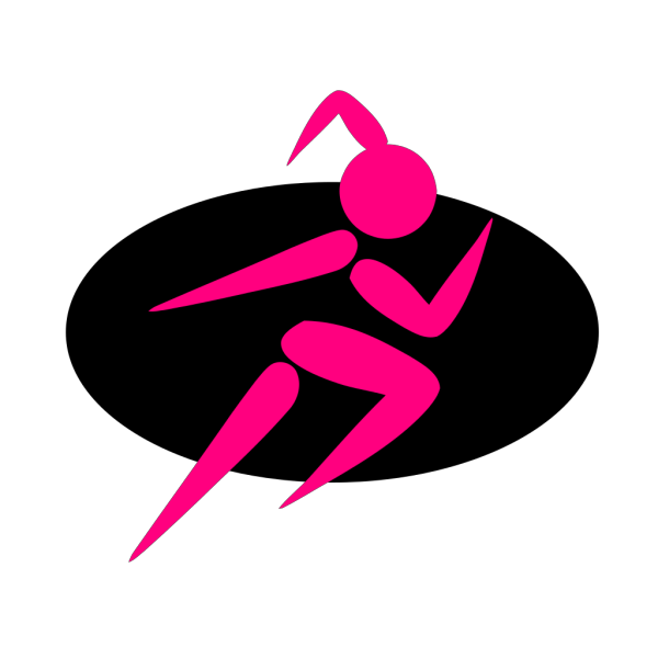 Girl Running Two PNG Clip art