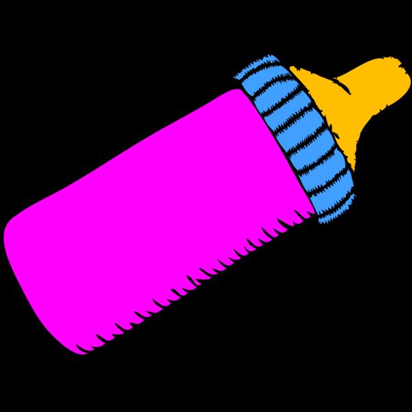 Baby Bottle Pink PNG Clip art