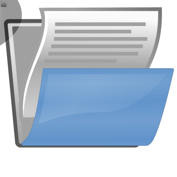 Document Open PNG images