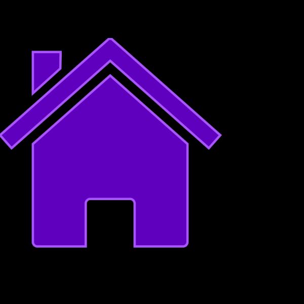 Simple Purple House PNG Clip art