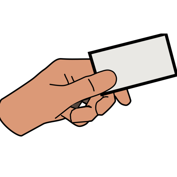 Simple Cartoon Hand Holding Card PNG icons