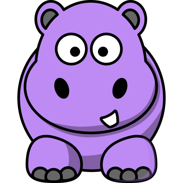 Cartoon Hippo PNG Clip art