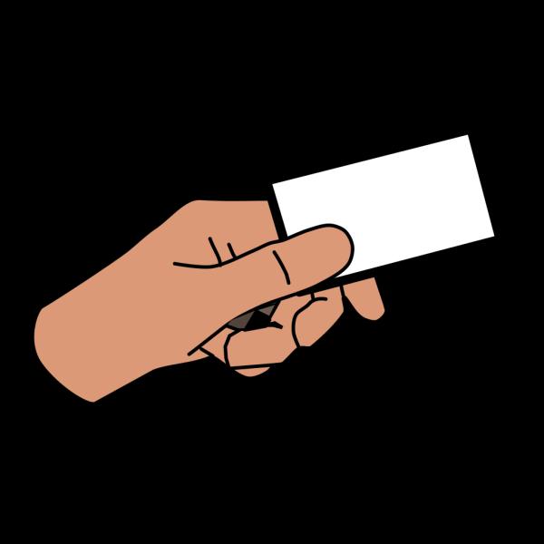 Cartoon Hand Card PNG Clip art