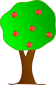Apple Tree With Roots PNG Clip art