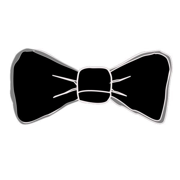 Black And Grey Bow Tie PNG Clip art