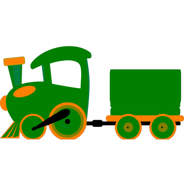 Toot Toot Train And Carriage  PNG Clip art