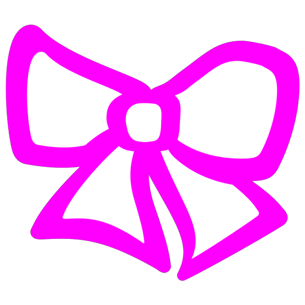 Pink Hair Bow PNG Clip art