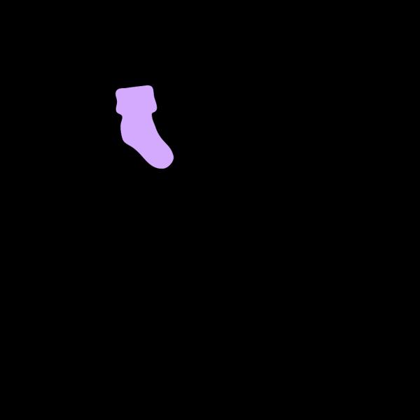 Purple Booties PNG Clip art