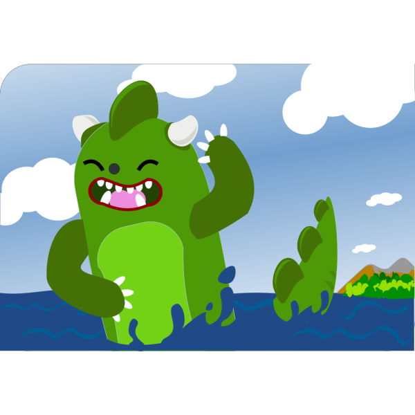 Godzilla Emerging From Sea PNG Clip art