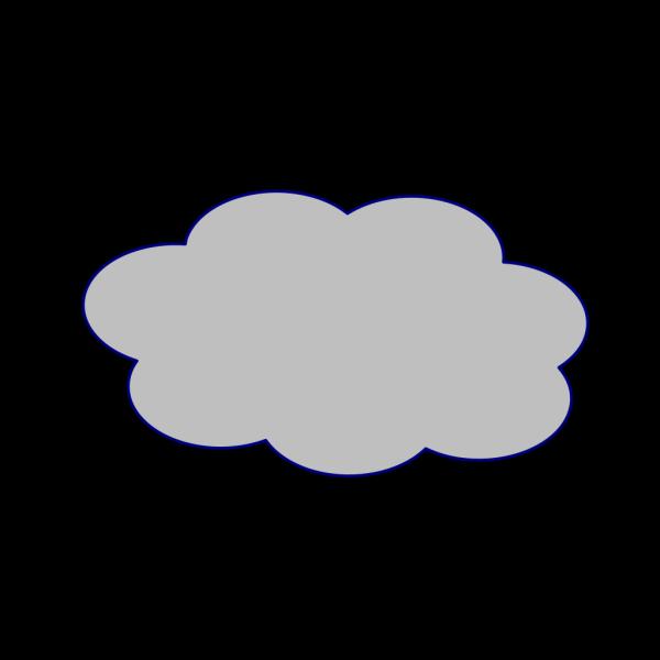 Grey Cloud PNG Clip art
