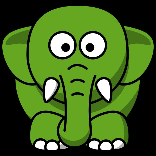 Elephant-green PNG Clip art
