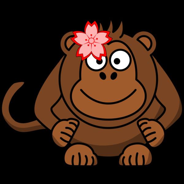 Flowermonkey PNG Clip art