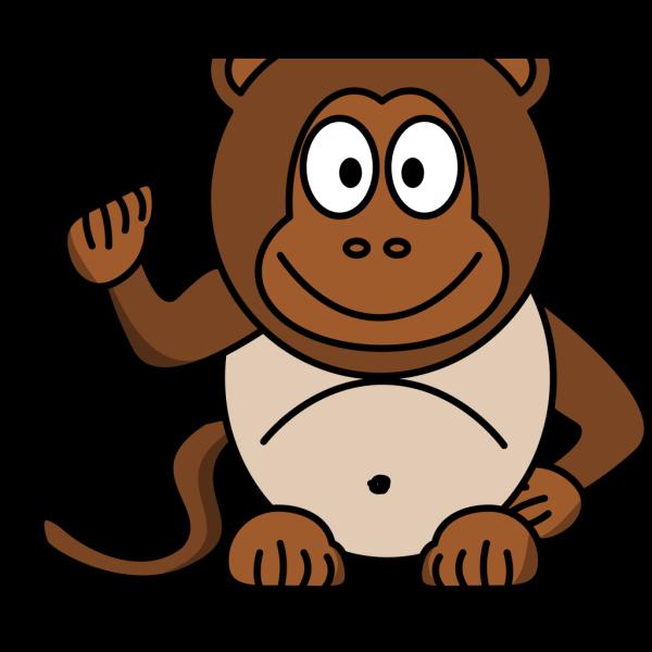Chubby Monkey PNG Clip art