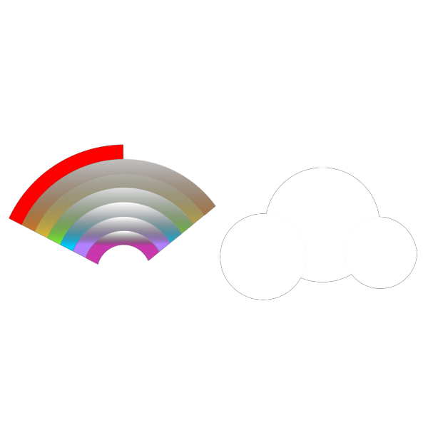 Cloud Rainbow PNG Clip art