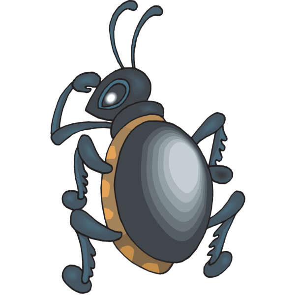 Beetle Looking Over Shoulder PNG Clip art