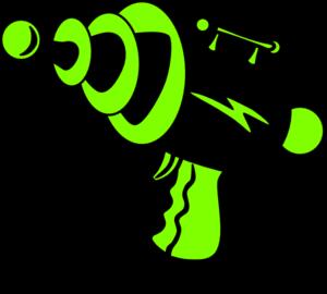 Ray Gun Green And Black No Shadow PNG Clip art
