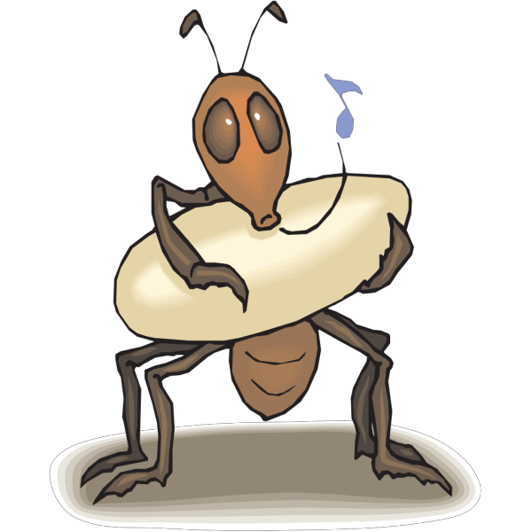 Ant Rocking Egg To Sleep PNG Clip art