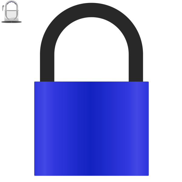 Padlock Blue PNG Clip art
