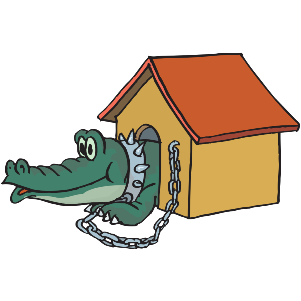 Alligator In Doghouse PNG Clip art