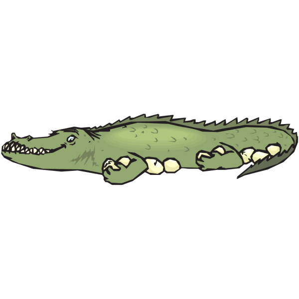 Alligator Guarding Eggs PNG Clip art
