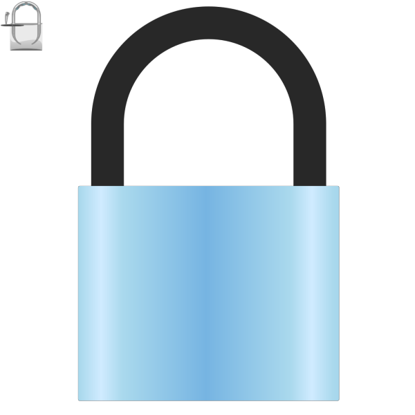 Padlock Skyblue PNG images