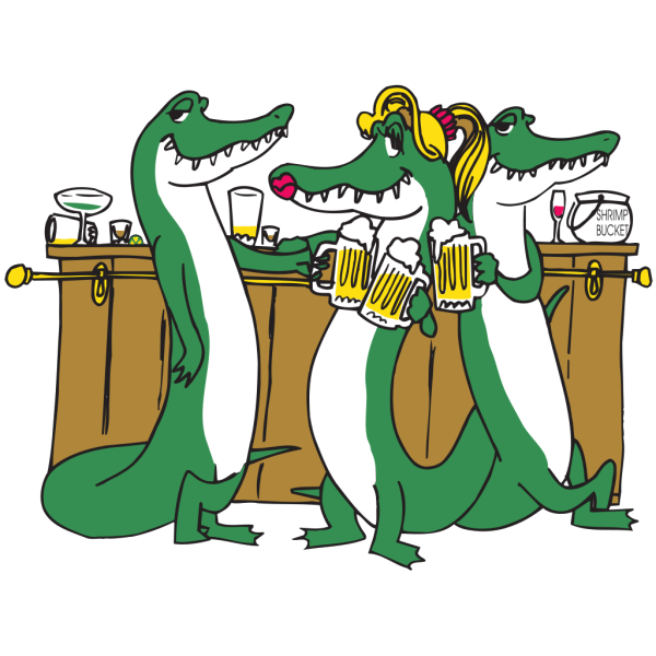 Alligators Drinking PNG Clip art