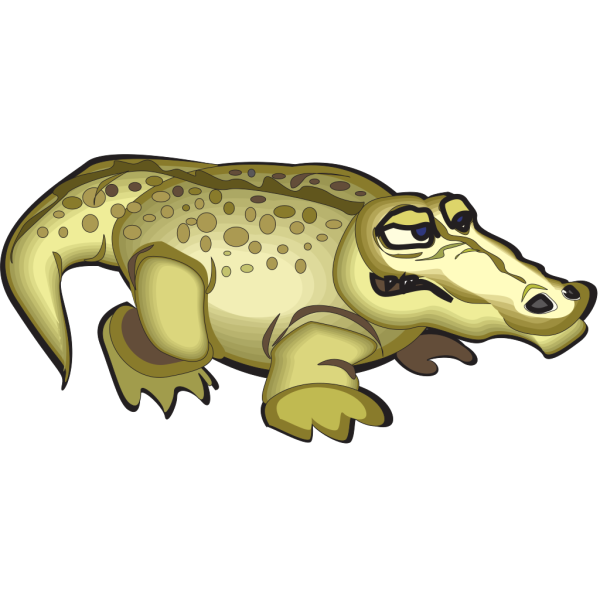 Yellow Alligator PNG Clip art
