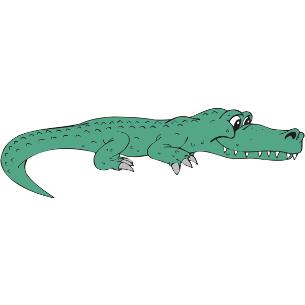 Side View Alligator PNG Clip art