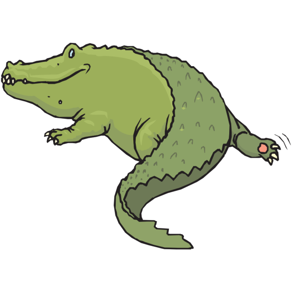 Rear View Of Alligator PNG Clip art