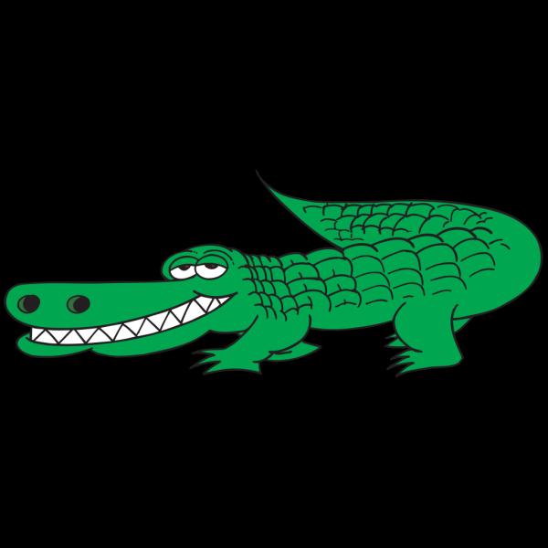 Grinning Alligator PNG Clip art