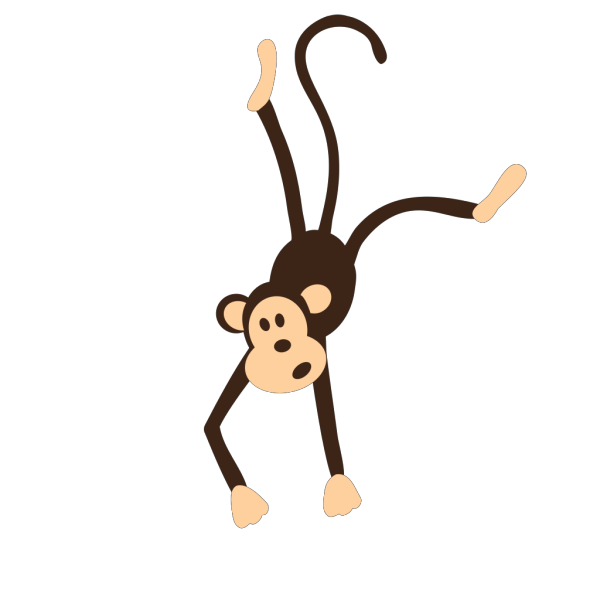 Monkey With Name PNG Clip art
