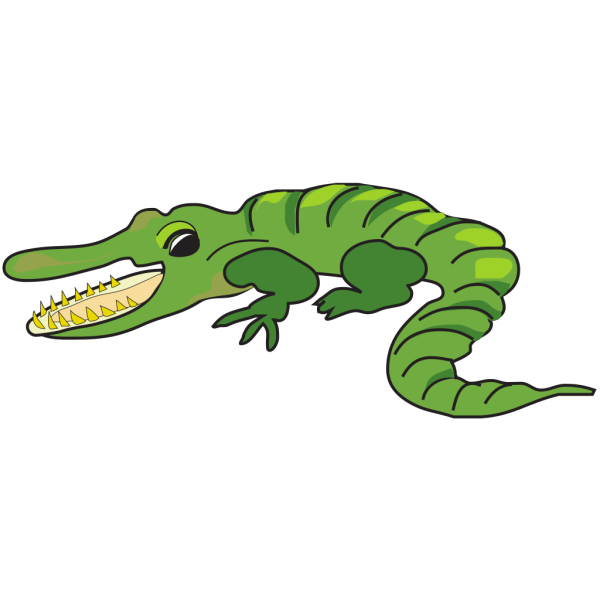 Open Mouthed Alligator PNG Clip art