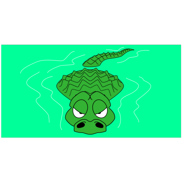 Lurking Alligator PNG Clip art