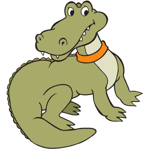 Alligator With A Collar PNG Clip art
