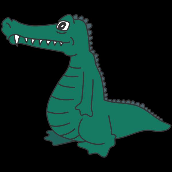 Standing Alligator PNG Clip art