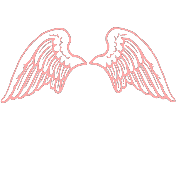 Stone Gray Angel Wings Large PNG Clip art
