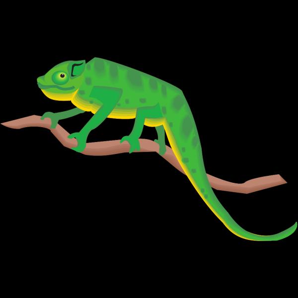 Chameleon On A Branch PNG Clip art