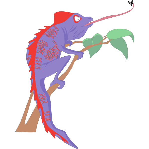 Purple And Red Chameleon PNG images