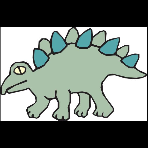 Simple Stegosaurus Art PNG Clip art