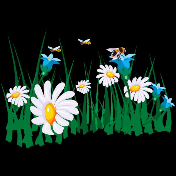 Bees Pollenating PNG Clip art