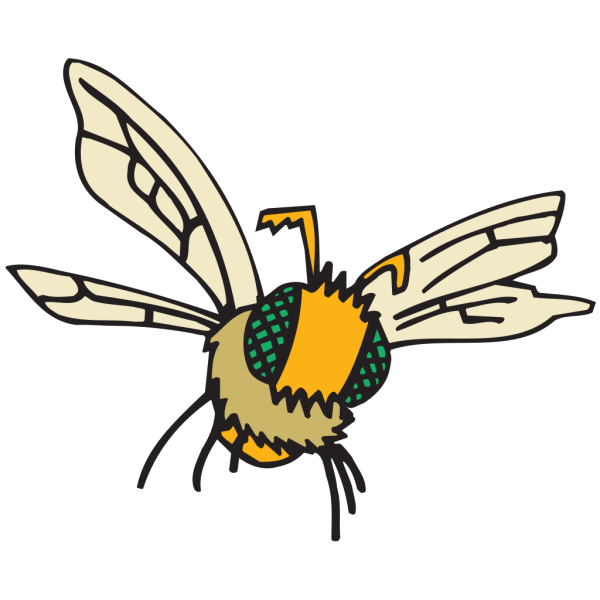 Fuzzy Bee PNG Clip art