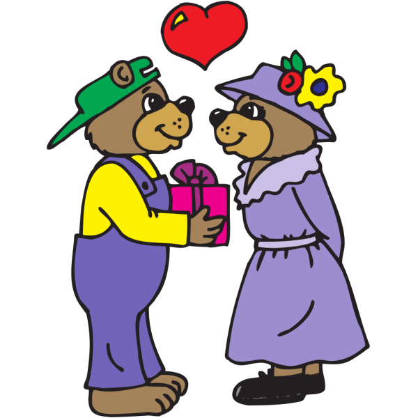 Bear Giving A Gift PNG Clip art