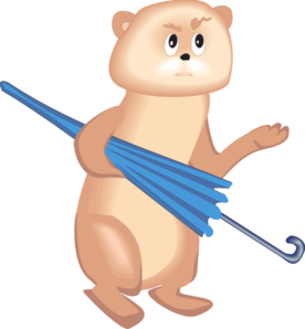 Bear With Umbrella PNG Clip art