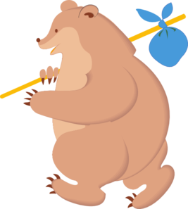 Bear With Knapsack PNG Clip art