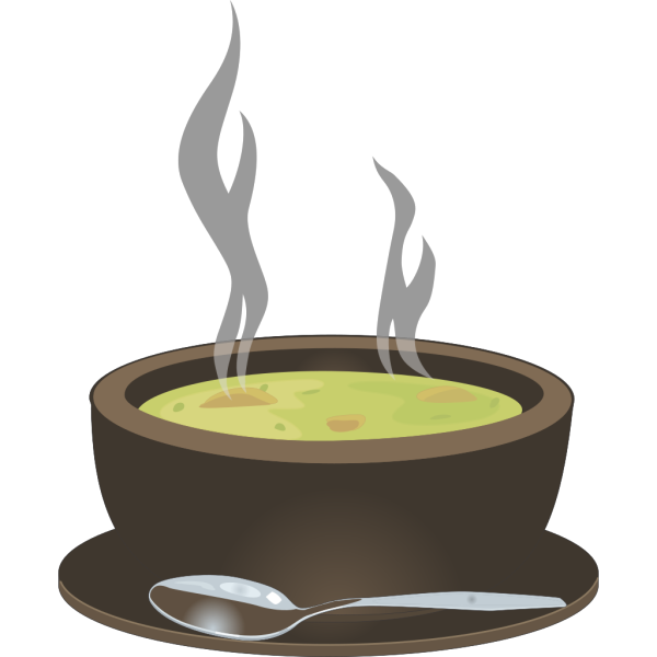 Hot Steaming Bowl Of Soup PNG Clip art