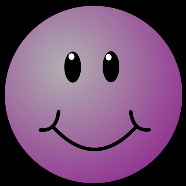 Purple Smiley Face PNG Clip art