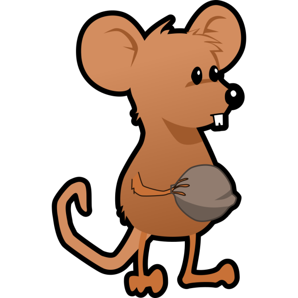 Mouse With A Nut PNG Clip art